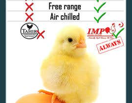 #20 para Advertisement Design for chicken product comparison por Utnapistin