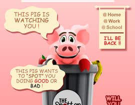 "BrochaVLJ tarafından Enhance our Marketing Poster for our Red-Handed Pig product called ""THE SPOTTER"" için no 25"
