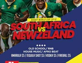#5 for design a poster ( Rugby world cup ) south Africa vs af Haidar16