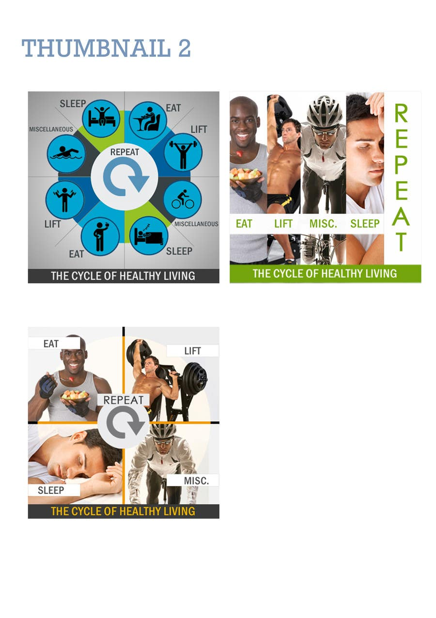 Bài tham dự cuộc thi #                                        7                                      cho                                         Website Design for 5 x Facebook image tiles, HEALTH AND FITNESS