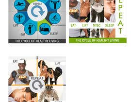 #7 for Website Design for 5 x Facebook image tiles, HEALTH AND FITNESS af patrick12691