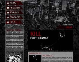 #5 untuk Mafia Game website homepage design oleh todtodoroff
