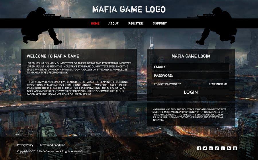 Penyertaan Peraduan #                                        16                                      untuk                                         Mafia Game website homepage design