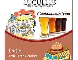 Nro 5 kilpailuun Gastronomic Fair poster design käyttäjältä summrazaib22