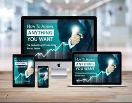 "CJRomano tarafından Product Cover Design for Online Course ""How to Achieve Anything You Want - The Goalsetting & Productivity Master Course"" için no 51"
