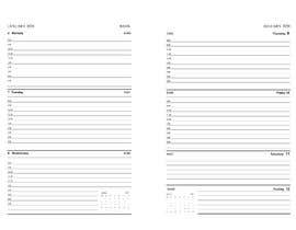 #4 untuk Create in MS Word,  weekly planner interior for 2020 oleh USAmakhan099