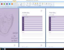 #19 for Create daily planner in MS word for 2020 by saskafon