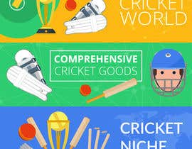 #2 for Professional 3 Banner design needed to be prepared for cricket shopify website af nilaym645