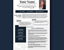 #155 pentru Graphic design for Executive Bio and Resume de către milinden