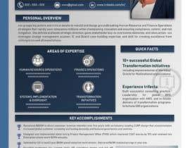 #199 pentru Graphic design for Executive Bio and Resume de către Suzenchong