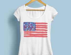 "nº 147 pour T-Shirt Design ""US Flag with Bleeding Hearts - Brushed Painted"" par soikot08"