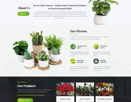 #2 for Create website mockup design for plant nursery Nursery by Shouryac