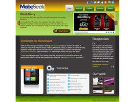 #31 pentru Website Design for MobeSeek - mobile strategy agency de către mkhadka