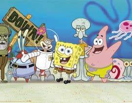 Nro 6 kilpailuun Design a spongebob-style character of a person käyttäjältä khaledalghool
