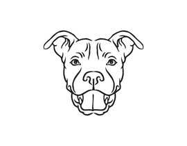 ganjarelex tarafından Caricature of a dog's face in a vector image with black lines only için no 9
