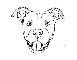 Sico66 tarafından Caricature of a dog's face in a vector image with black lines only için no 6