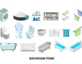 #38 cho Isometric hotel amenities elements for room and home reservation website bởi FALL3N0005000
