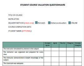 #21 cho School/instructor valuation form bởi shirhashim