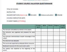 #22 cho School/instructor valuation form bởi shirhashim