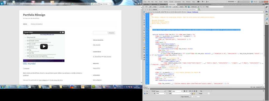 Inscrição nº                                         1                                      do Concurso para                                         Wordpress Theme Design for add video