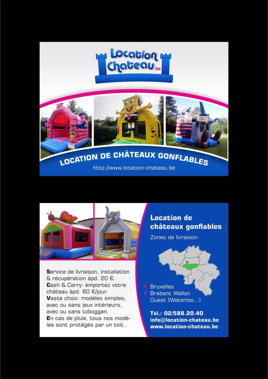 Bài tham dự cuộc thi #                                        13                                      cho                                         Flyer Design for Inflatable castle rental