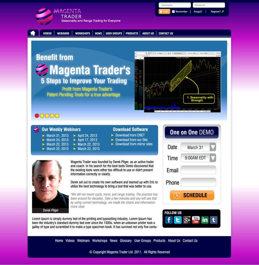 Proposition n°                                        2                                      du concours                                         Website Design for Magenta Trader