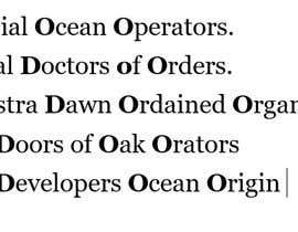 Nro 3 kilpailuun 4 words for company name shoud stand of ODOO käyttäjältä ghetaohisaac