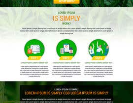 #43 for Responsive Landing Page Design for CBD Liquid Arouse by avinaykumarweb