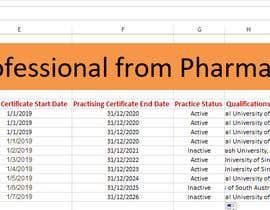 Nro 19 kilpailuun List of Professional from Pharma Council käyttäjältä mehedihassan4467