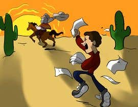 #2 for Cartoon image of professor riding into sunset ignoring a graduate student by Bribear521