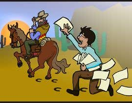 #7 for Cartoon image of professor riding into sunset ignoring a graduate student by manikmoon