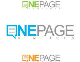 #147 cho Logo Design for OnePageVentures - start up company bởi sqhrizvi110