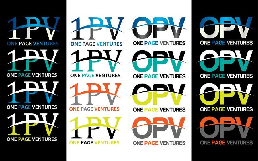 Inscrição nº                                         13                                      do Concurso para                                         Logo Design for OnePageVentures - start up company