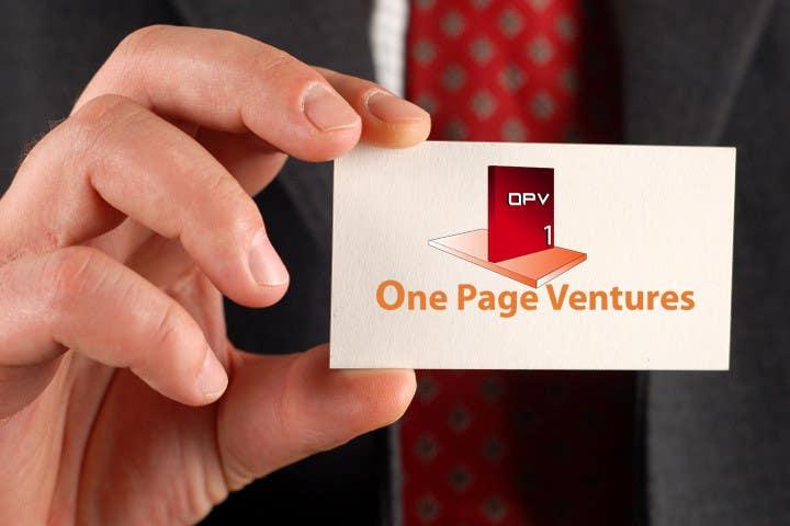 Inscrição nº                                         153                                      do Concurso para                                         Logo Design for OnePageVentures - start up company