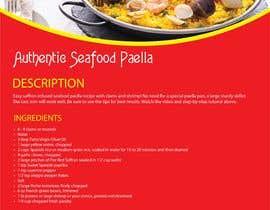 #26 for Recipe Design Brochure/Document af shahfakir