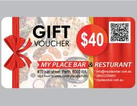 #15 для design a voucher $40 with barcode or qr от marbei