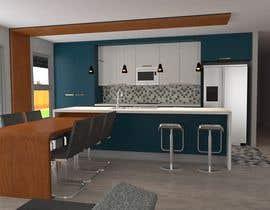 nº 12 pour Floor plan and kitchen render par maggymeyer