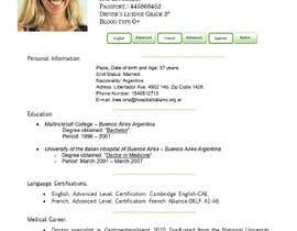 #10 cho Curriculum Vitae - Medical Doctor: Translation From Spanish to English and format bởi ealccjob