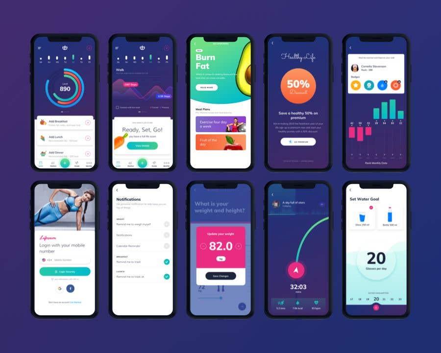 Kilpailutyö #13 kilpailussa UX UI design for gym members / Fitness app