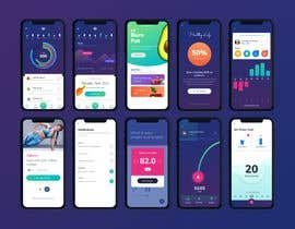 #13 for UX UI design for gym members / Fitness app af emonhawlader2k19