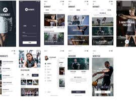 #35 for UX UI design for gym members / Fitness app af SK813