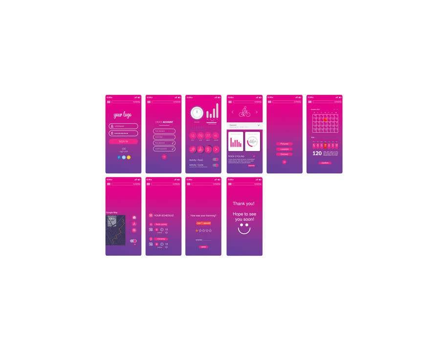 Bài tham dự cuộc thi #17 cho UX UI design for gym members / Fitness app