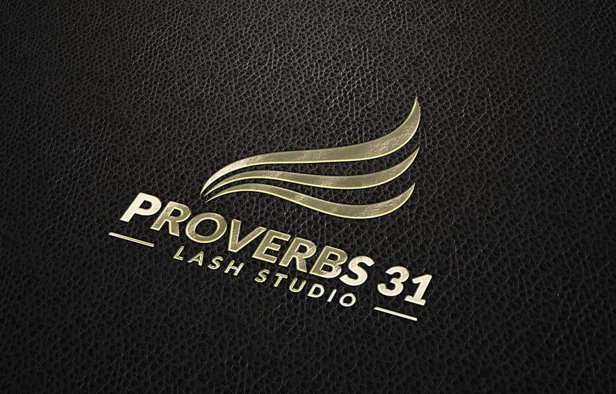 """Contest Entry #98 for I need a logo created for a lash salon. It needs to say """"Proverbs 31 Lash Studio"""" would like Proverbs 31 in gold and lash studio in rose gold or light pink."""