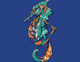 #36 for robotic seahorse logo by blurrypuzzle