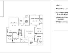#78 untuk Need 2D Floor Plan for my home without elevation oleh kayunn