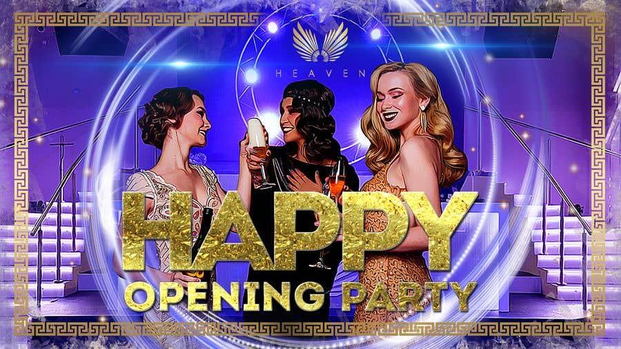 """Kilpailutyö #64 kilpailussa """"Happy"""" party events creative concept - facebook cover"""