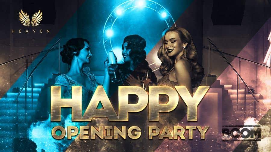 """Kilpailutyö #66 kilpailussa """"Happy"""" party events creative concept - facebook cover"""