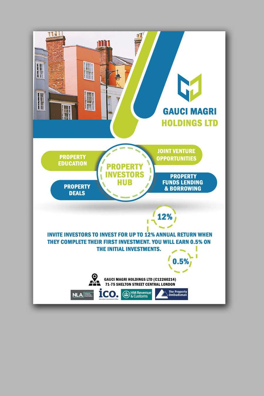 Konkurrenceindlæg #14 for A5 Flyer Design - Gauci Magri Holdings Ltd - Professional Design for Investors
