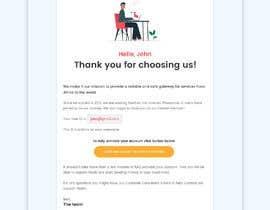 Nro 31 kilpailuun Welcome E-Mail Design - UI/UX Designer käyttäjältä husainmill