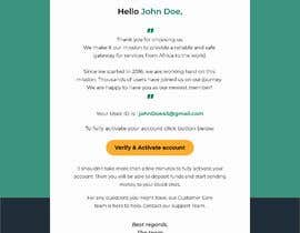 Nro 21 kilpailuun Welcome E-Mail Design - UI/UX Designer käyttäjältä AjijulAbid